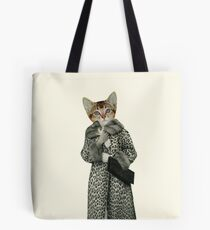 Kitten Dressed as Cat Tote Bag