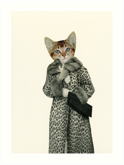 Quot Kitten Dressed As Cat Quot Art Print By Cassia Redbubble