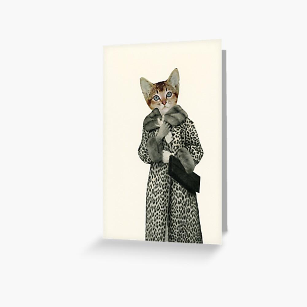 Kätzchen gekleidet als Katze Grußkarte