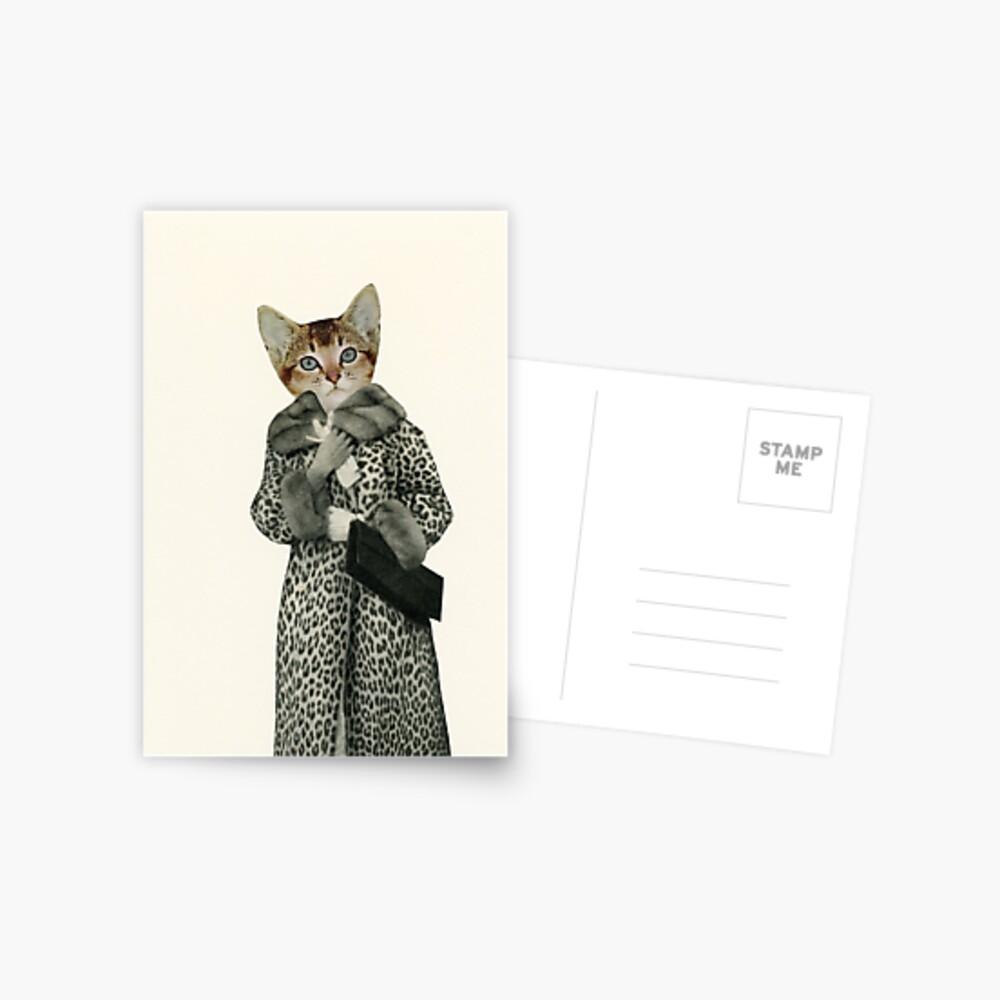 Kätzchen gekleidet als Katze Postkarte