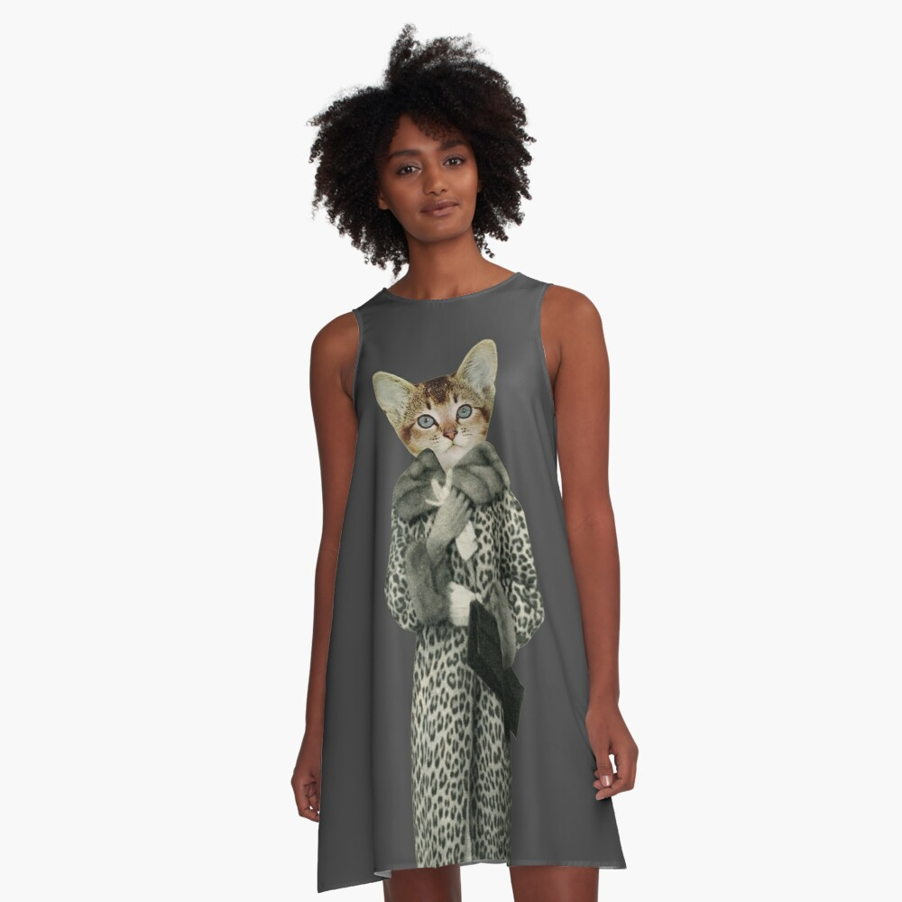 Kitten Dressed as Cat A-Line Dress