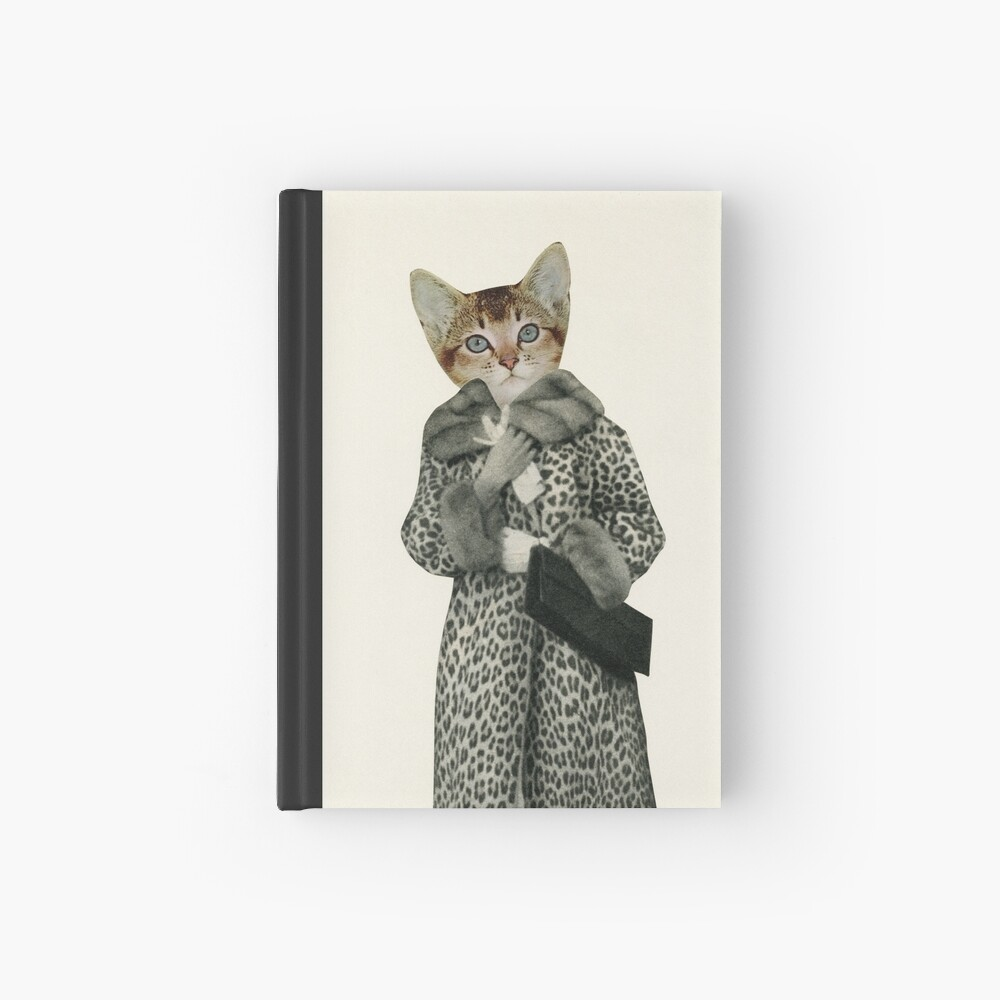 Kätzchen gekleidet als Katze Notizbuch