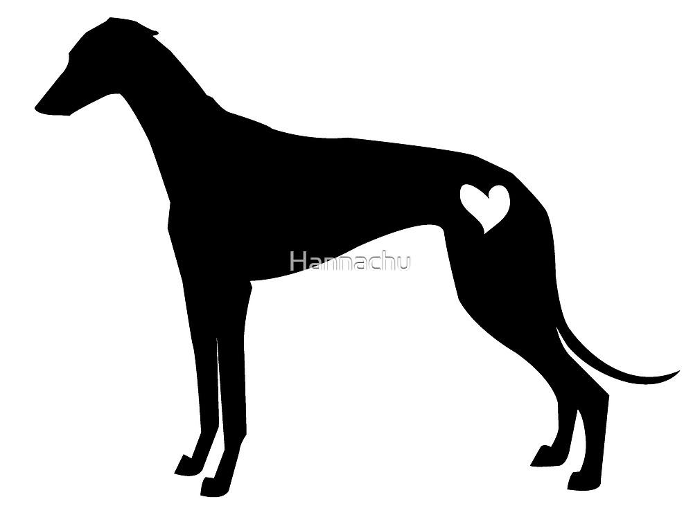 Greyhound silhouette by Hannachu