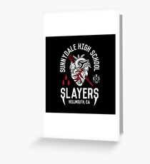 Sunnydale Slayers Greeting Card