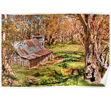 High Country Hut Poster