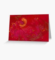 Red Phoenix Greeting Card