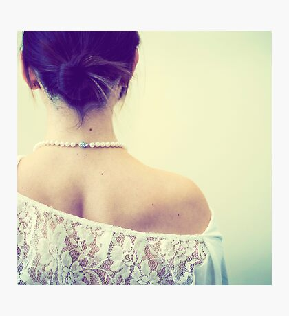 Her Pearls Made Her Photographic Print