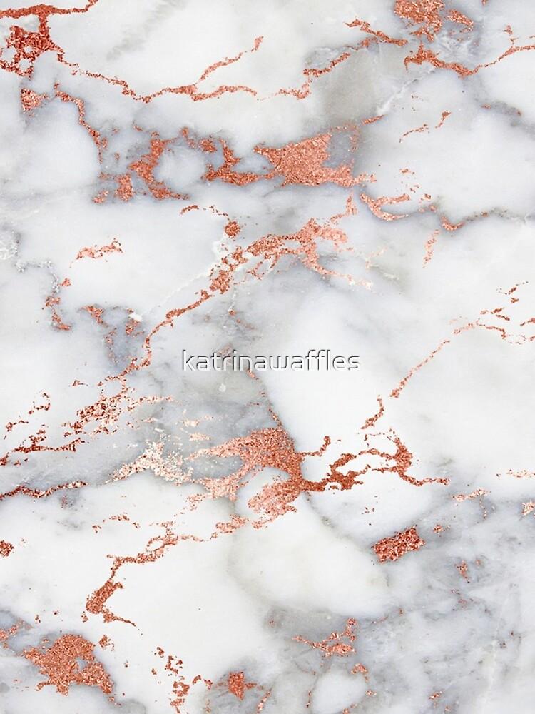 Rose Gold Glitter Weißer Marmor von katrinawaffles