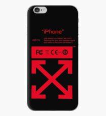 Vinilo o funda para iPhone Rojo apagado blanco