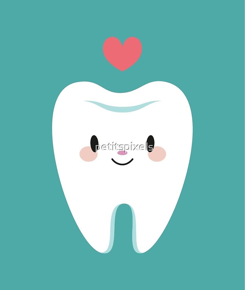 Cute little molar teeth by petitspixels