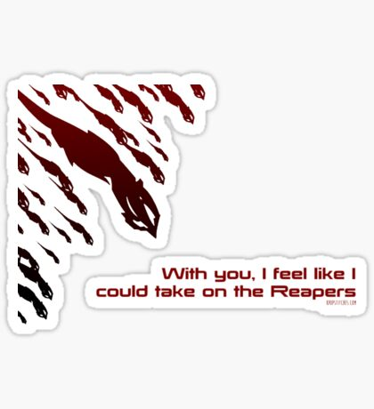 Mass Effect valentine's sweetheart card reapers Sticker