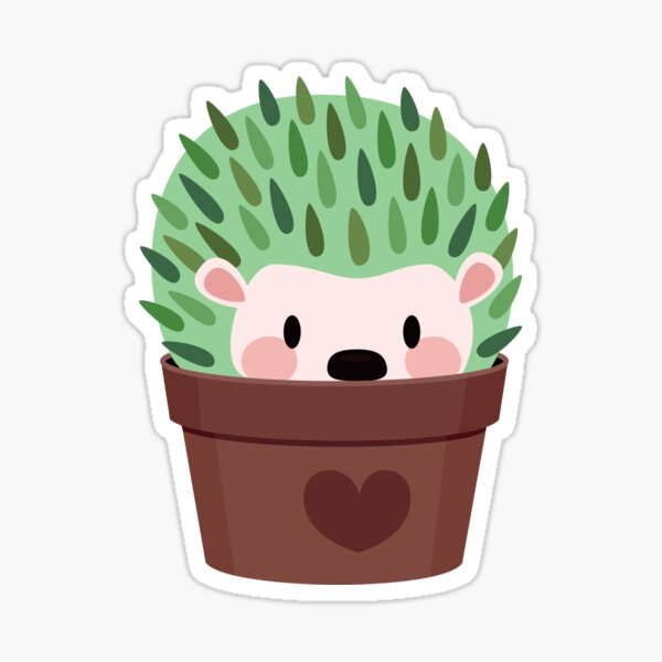 Hedgehogs disguised as cactuses Sticker
