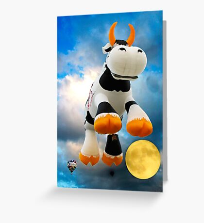 The Cow Jumped Over The Moon © Greeting Card