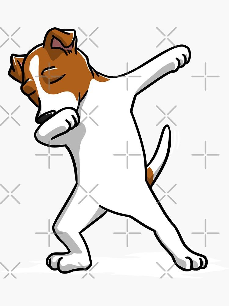 Lustiger tupfender Jack Russell Terrier Dog von ilovepaws