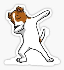 Funny Dabbing Jack Russell Terrier Dog Sticker