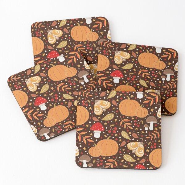 Autumn elements Coasters (Set of 4)