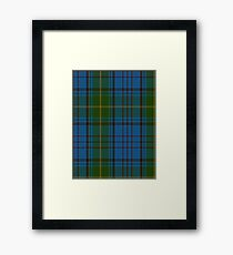 00321 Donegal County Tartan Framed Print