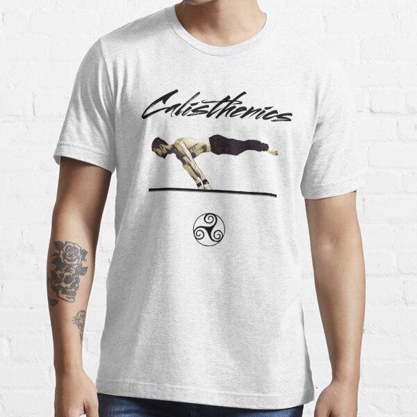 Calistenia habilidades y movimientos Diseño camiseta Camiseta esencial
