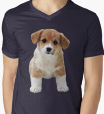 A Little Puppy Men's V-Neck T-Shirt