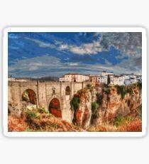 Ronda, panoramas of Spain Sticker