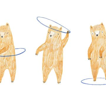 Hula Hooping Bears by hollyharvey