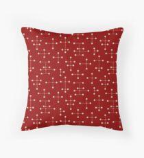 Midcentury Modern Dots 50 Throw Pillow