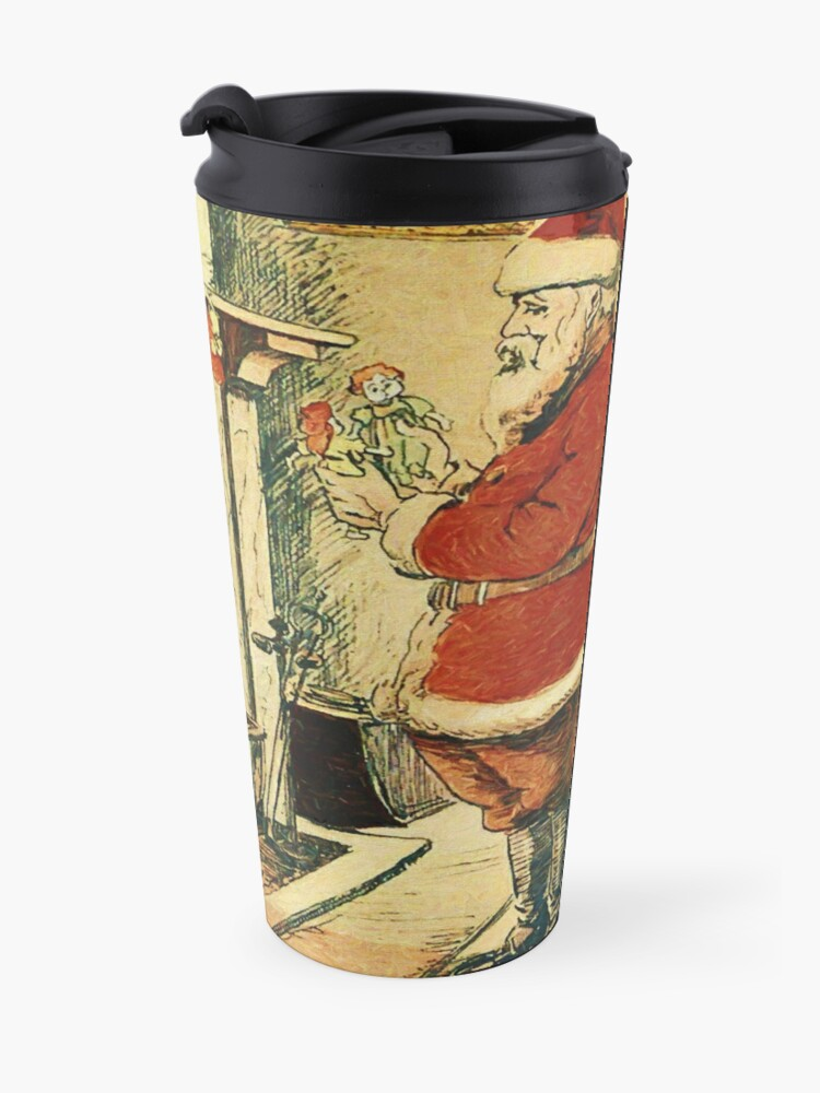 Alternate view of Santa Claus in Japan 1914 Reworked No. 1 Travel Mug