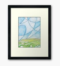 The illusion that you feel is real Framed Print