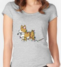 Corgi Christmas Time Women's Fitted Scoop T-Shirt