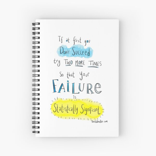 If at first you don't succeed.... THE SCIENCE VERSION. Spiral Notebook