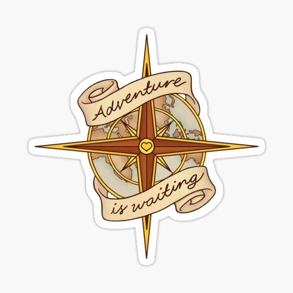 Adventure Compass Sticker