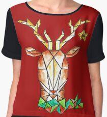 Minimalist Reindeer - Cerf Minimaliste  Women's Chiffon Top