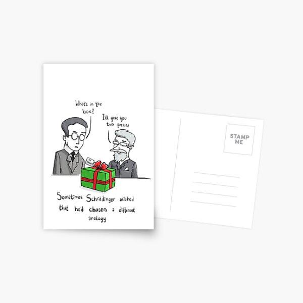 Schrodinger's gift  Postcard