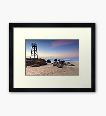 Sunrise and shark tower seat Framed Print