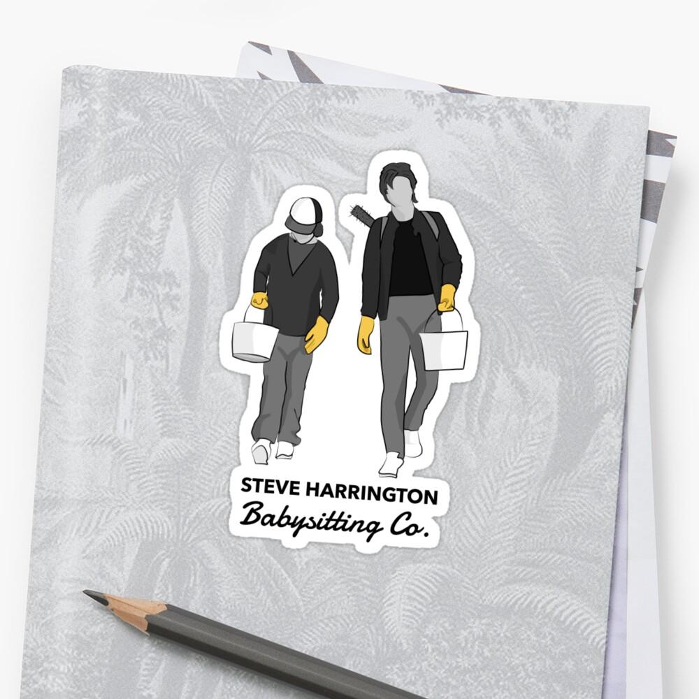 Quot Steve Harrington Babysitting Co Quot Sticker By