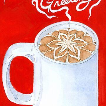 Seasons Greetings Cocoa Mug by PersonalGenius
