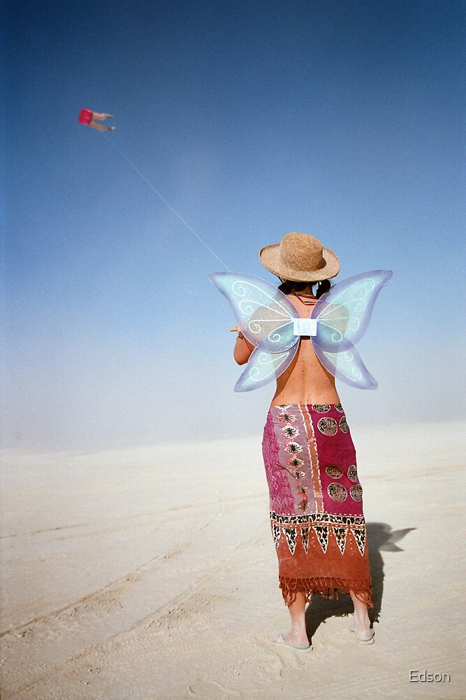Butterfly Girl by Edson