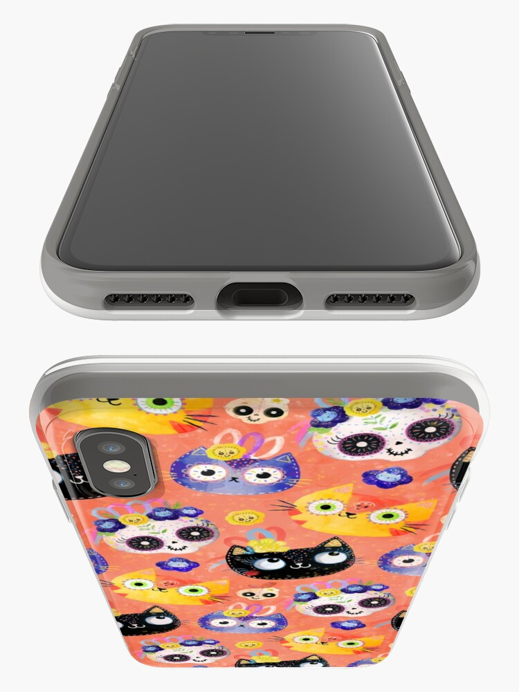 Alternate view of Cats and Skulls iPhone Case & Cover
