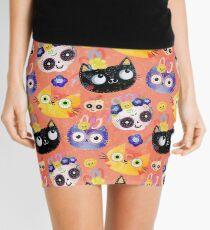 Cats and Skulls Mini Skirt