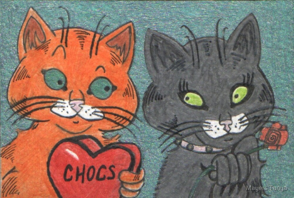 Ginger Cat In love by Mayers Tanya
