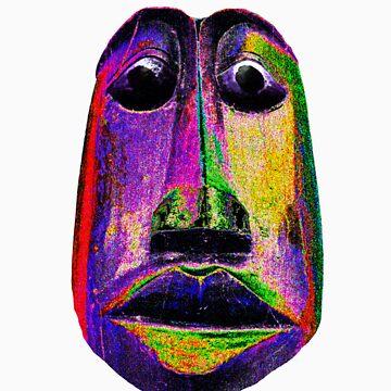 Tribal Mask- Purple by zyonchilde