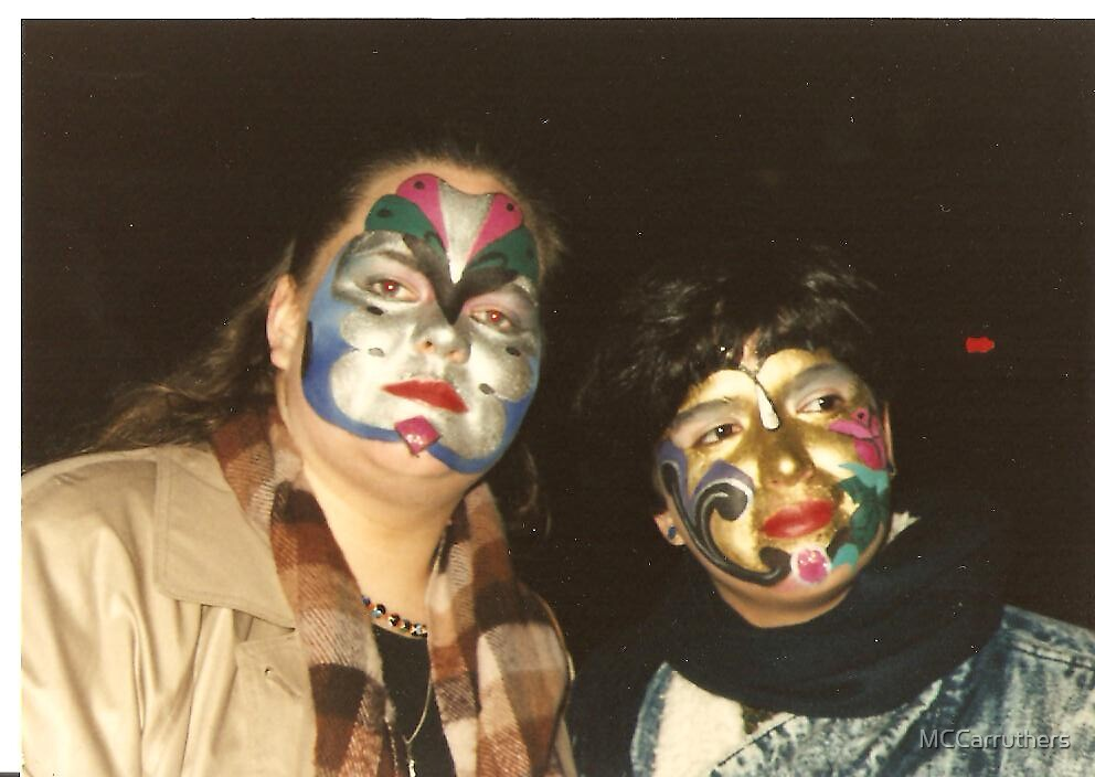 Painted Faces, Venice 1990 by MCCarruthers