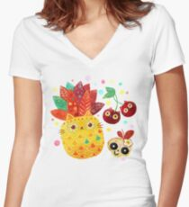 Mexican Tutti Frutti Women's Fitted V-Neck T-Shirt