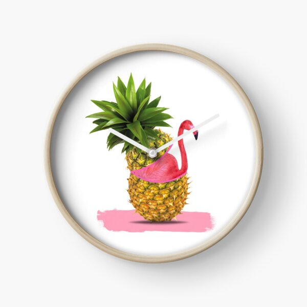 Flamingo party Clock
