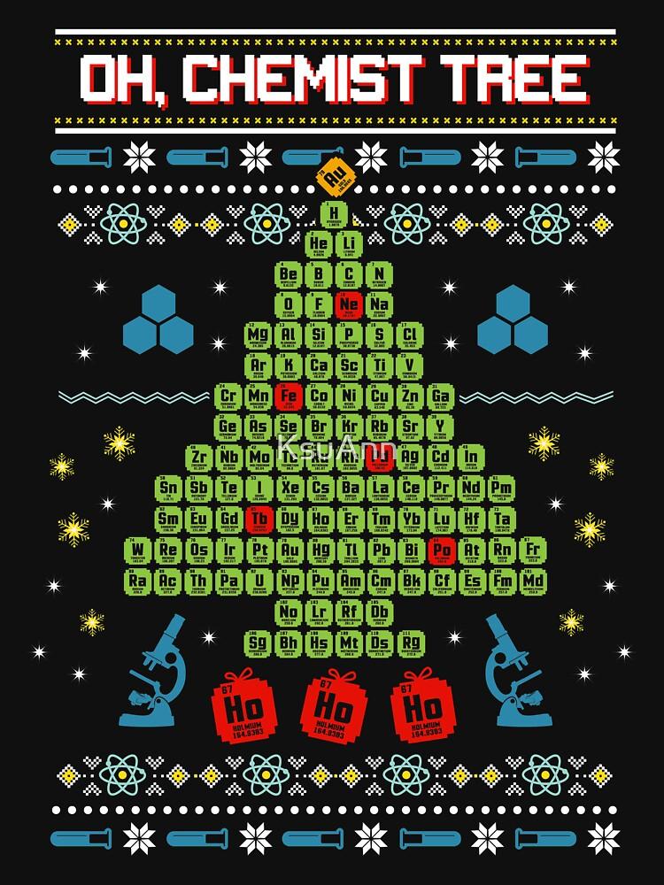 Oh Chemist Tree Ugly Christmas Sweatshirt by KsuAnn
