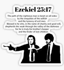 Ezekiel 25:17 Pulp Fiction Quote Sticker