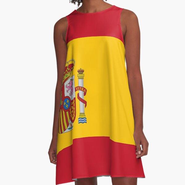Flag of Spain A-Line Dress