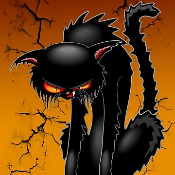 Black Cat Evil Angry Funny Character  by BluedarkArt