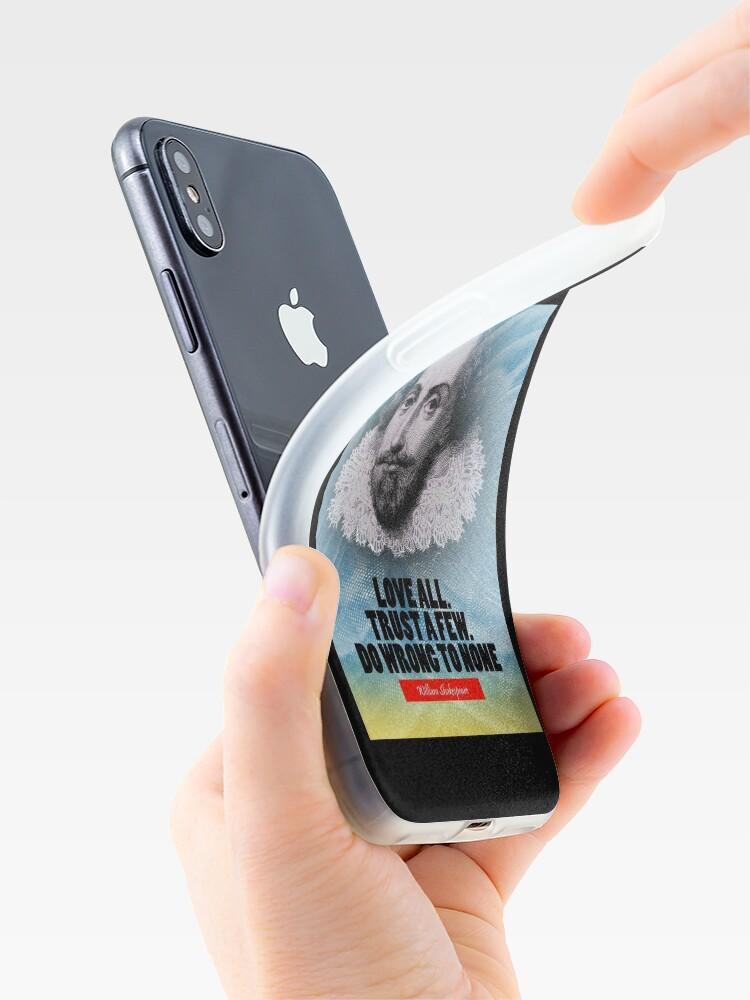 Vista alternativa de Funda y vinilo para iPhone Cita de la inspiración de William Shakespeare