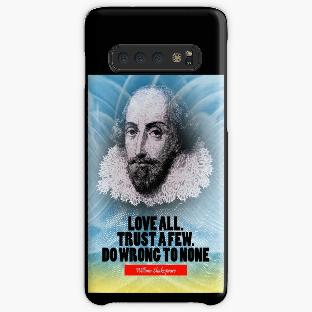 Cita de la inspiración de William Shakespeare Funda y vinilo para Samsung Galaxy